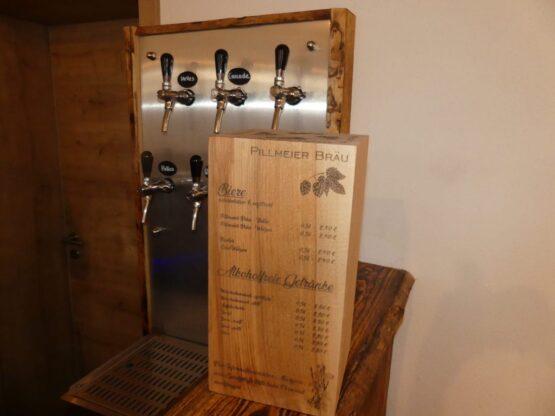 Getränkekarte aus Holz - Gastrobedarf