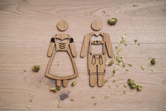 WC Schild Bayrisch aus Holz
